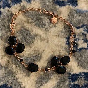 Rose gold and black bracelet